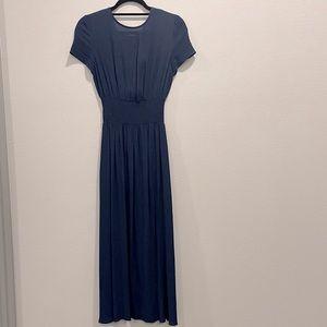 Aritzia Wilfred Maxine Dress Navy XXS